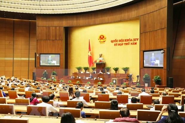 越南第十四届国会第次五会议就经济社会问题展开讨论 hinh anh 1