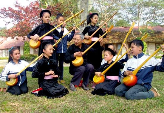 越南艺术家呼吁出台有效措施保护并弘扬天琴弹唱艺术 hinh anh 1