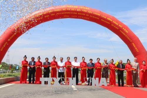 跨前江的高领大桥正式竣工通车 政府副总理郑廷勇出席 hinh anh 1
