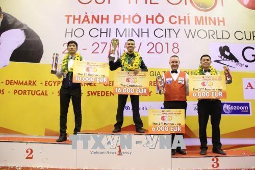 越南选手夺得2018年胡志明市世界杯开伦(三球)台球锦标赛冠军 hinh anh 2