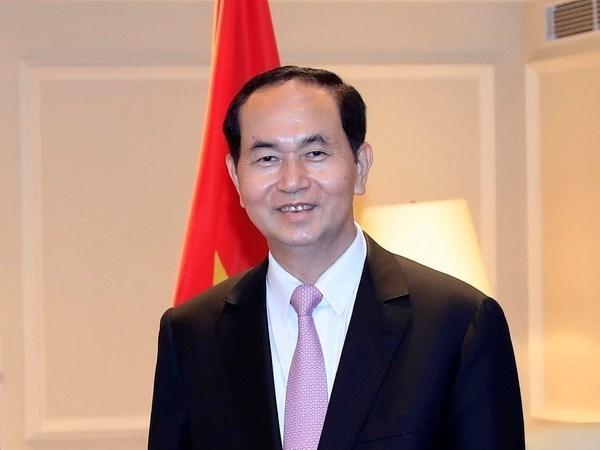 越南国家主席陈大光和夫人离开河内 开始对日本进行国事访问 hinh anh 1