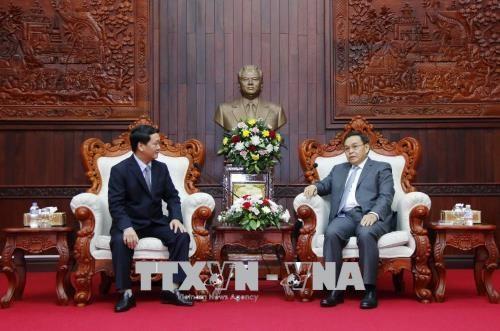 越老两国阵线之间的合作有助于加强两国团结友谊 hinh anh 1
