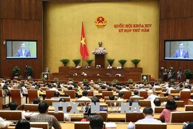 越南第十四届国会第五次会议29日就3部法律草案进行讨论 hinh anh 1