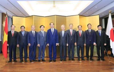 越南国家主席陈大光会见日本大型经济集团领导 hinh anh 1
