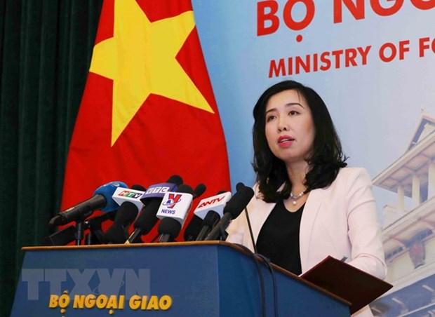 越南坚决反对中国台湾在巴平岛进行实弹演习 hinh anh 1