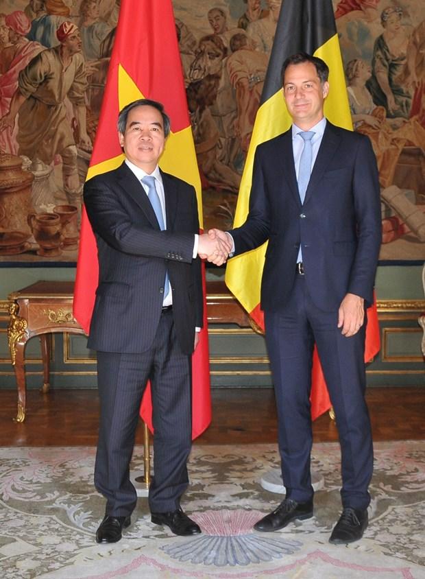 越南优先与比利时和欧盟发展经济合作 hinh anh 2