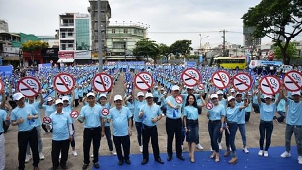 越南全国各地响应2018年国家无烟周活动 hinh anh 1