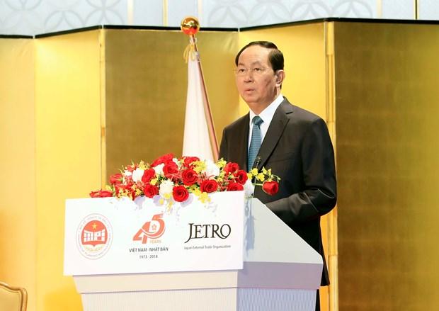 陈大光主席:越南高度评价在越日企的纪律意识、现代科技和企业文化 hinh anh 1