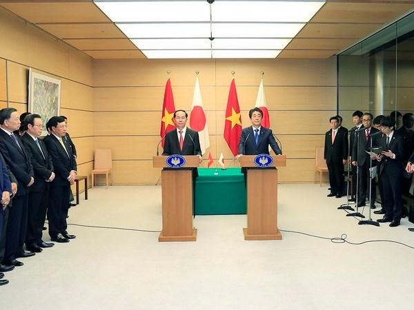 陈大光主席会见日本国际协力机构主席 hinh anh 1