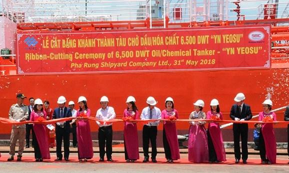 越南向韩国移交载重6500吨的油化船 hinh anh 1