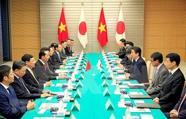 越南与日本发表联合声明 hinh anh 1