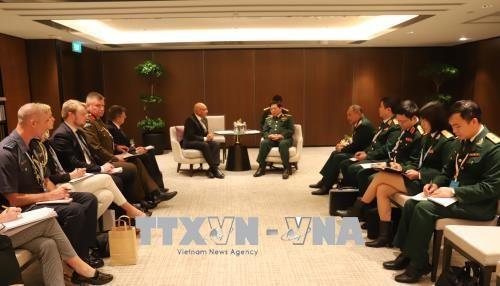 第十七届香格里拉对话会:越南防长吴春历同新西兰、英国、新加坡等国领导举行双边会晤 hinh anh 1