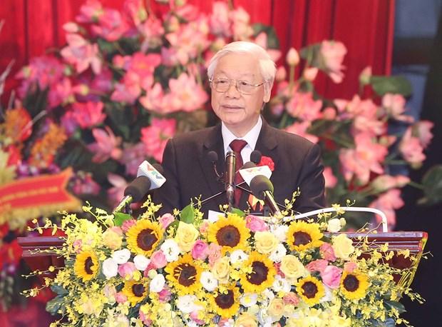 胡志明主席《爱国竞赛号召书》问世70周年庆典在首都河内隆重举行 hinh anh 1