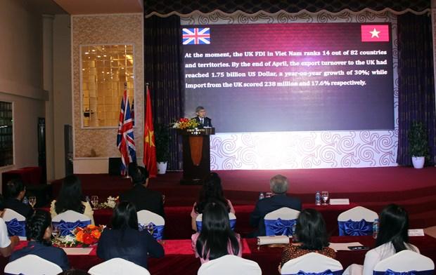 越英建交45周年庆祝活动在胡志明市举行 hinh anh 1