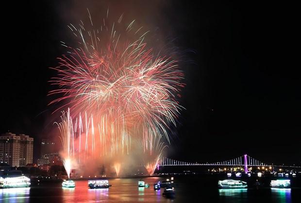 2018年岘港国际烟花节——一场视觉盛宴 hinh anh 1