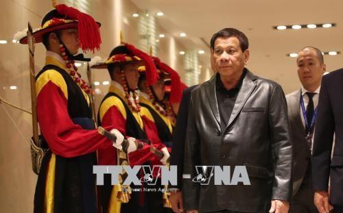 菲律宾总统访韩 促进两国防务安全关系 hinh anh 1
