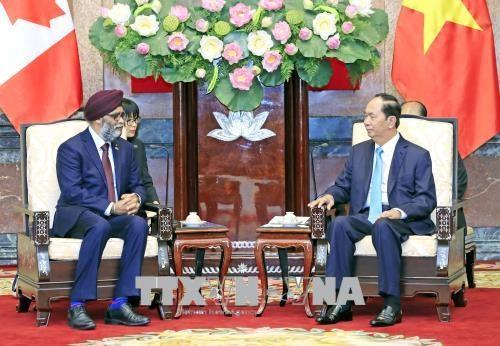 国家主席陈大光会见加拿大国防部长萨吉安 hinh anh 1