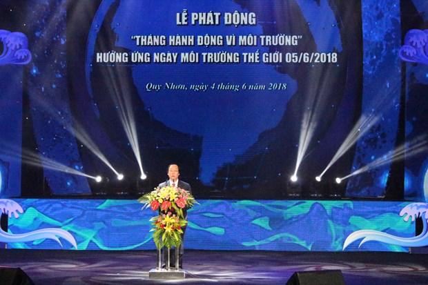 2018年越南致力于国家环境行动月:摈弃坏习惯 告别塑料袋 hinh anh 1