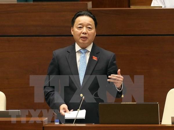 越南第十四届国会第五次会议:加强土地管理及监督检查工作 hinh anh 1