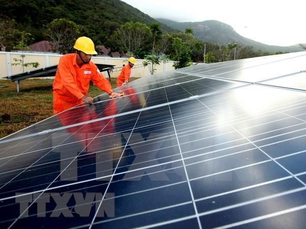 总额为1.3万亿越盾的太阳能发电站在宁顺省兴建 hinh anh 1