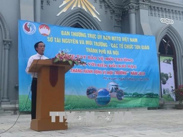 呼吁各宗教组织和信教群众积极参与环保事业 hinh anh 1