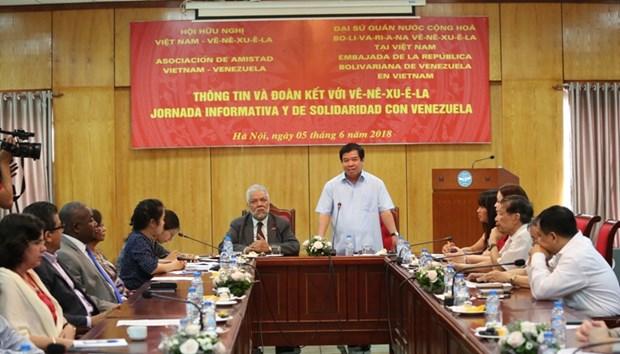 委内瑞拉驻越大使:越南革新经验为玻利瓦尔革命进入新发展阶段注入动力 hinh anh 1