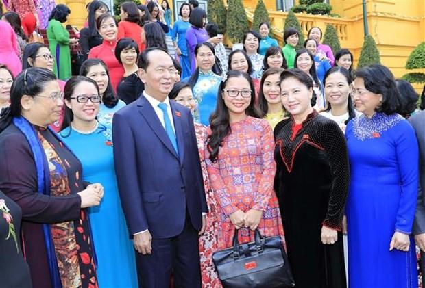 国家主席陈大光会见第十四届国会女代表 hinh anh 2