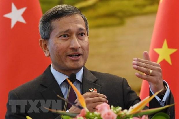 朝鲜外长与新加坡外长举行会谈商谈朝美峰会前夕形势 hinh anh 1