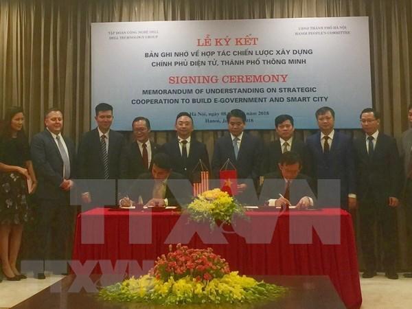 河内市与戴尔科技集团合作建设电子政府和智慧城市 hinh anh 1
