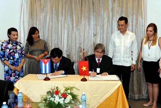 越南电视台和越南之声广播电台加强与古巴合作关系 hinh anh 1