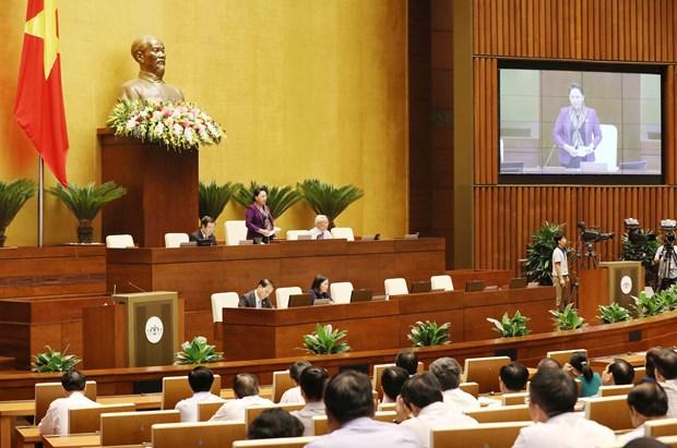 越南第十四届国会第五次会议:11日国会代表集中对两个法案建言献策 hinh anh 1