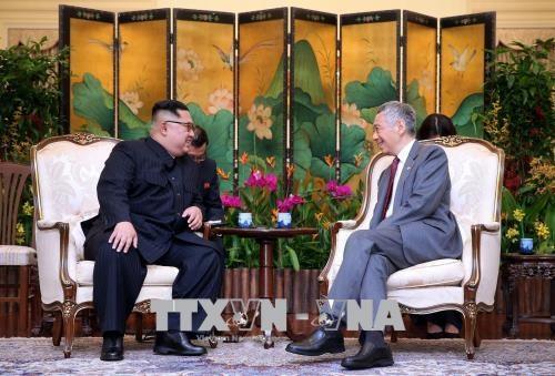 """""""特金会""""前夕:李显龙会见金正恩 新加坡外交部发表声明 hinh anh 2"""
