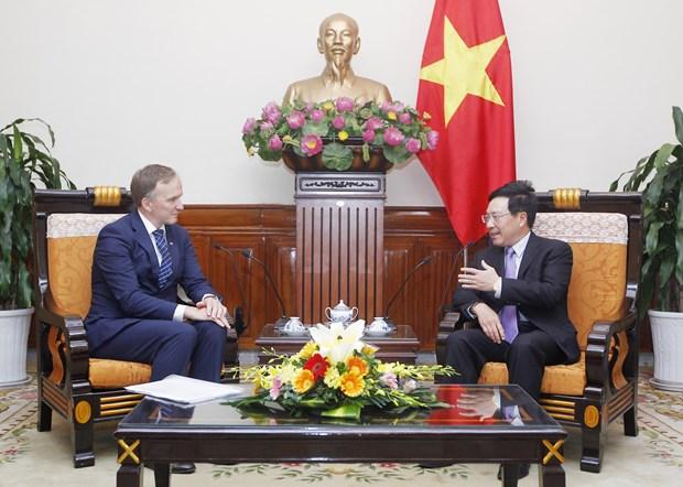 政府副总理兼外长范平明会见拉脱维亚国务秘书安德烈斯·贝德高 hinh anh 1