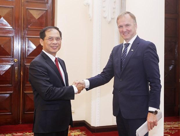 越南与拉脱维亚两国举行政治磋商 hinh anh 1