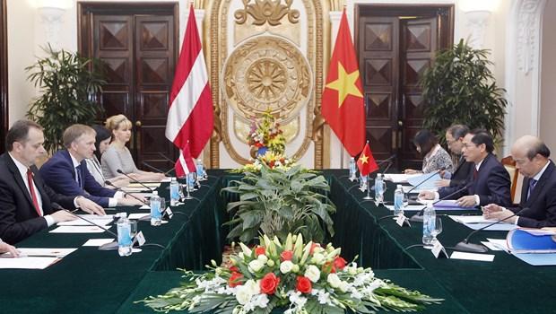 越南与拉脱维亚两国举行政治磋商 hinh anh 2