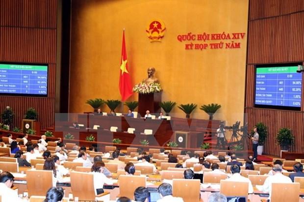 第十四届国会第五次会议:国会表决通过两个决议草案 hinh anh 1