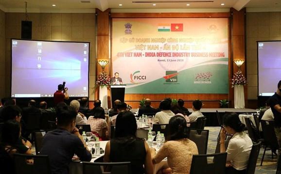 第四次越南-印度国防工业企业见面会在河内举行 hinh anh 1
