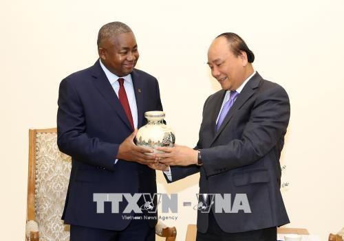 越南政府总理阮春福会见莫桑比克新任驻越大使 hinh anh 1