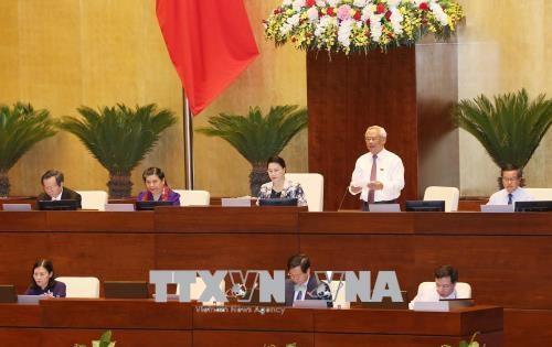 第十四届国会第五次会议:13日国会继续讨论《预防腐败法》(修正案) hinh anh 1