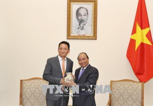 越南政府总理阮春福会见韩国新任驻越大使金度铉 hinh anh 1
