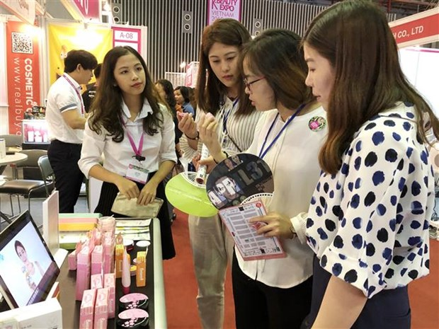2018年越南美容博览会在胡志明市开幕 hinh anh 2