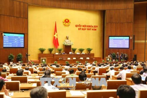 越南第十四届国会第五次会议今日表决通过两项法律草案 hinh anh 1