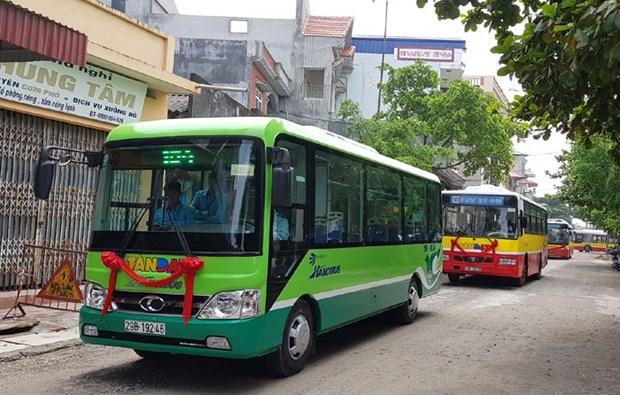 河内市将试点开通3条公共小巴线路 hinh anh 1