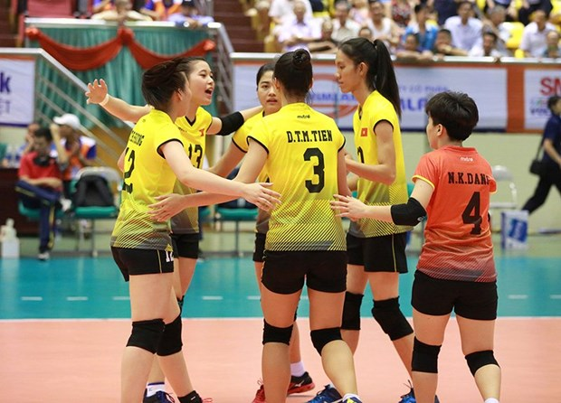 2018年亚洲U19女子排球锦标赛:越南击败新西兰晋级1/4决赛 hinh anh 1