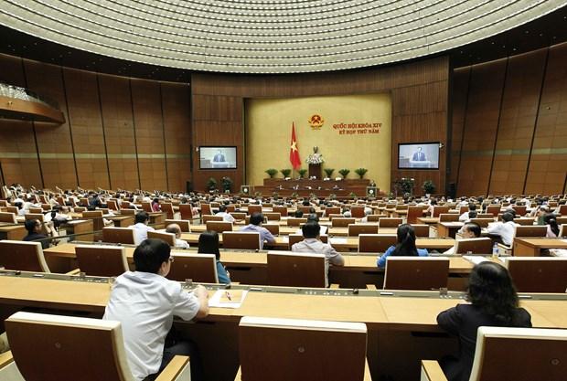 越南第十四届国会第五次会议:国会表决通过《体育法》(修正案)和《测绘法》 hinh anh 1