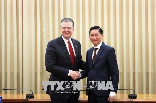 胡志明市与美国企业推动医疗领域的合作 hinh anh 1