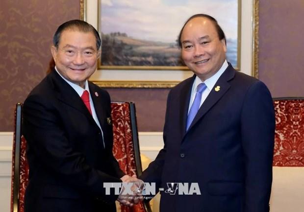 政府总理阮春福会见泰国泰国酿酒公司总裁兼首席执行长苏华荣 hinh anh 1