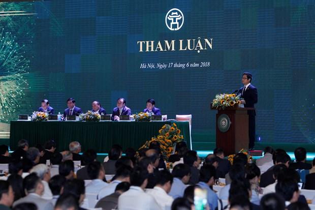 政府总理阮春福:河内市应寻找可持续且有突破性的长期增长动力 hinh anh 4