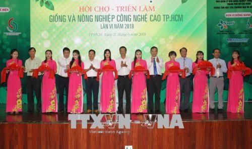 2018年种子种苗与高科技农业展览交易会在胡志明市开幕 hinh anh 1