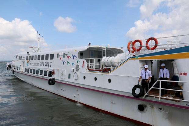 平顺省潘切市至富贵岛高速客船正式投入运行 hinh anh 1